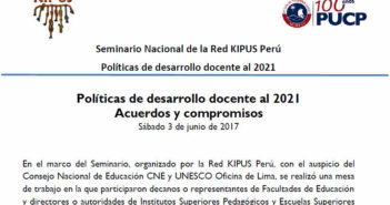 Acuerdos y compromisos: Políticas de desarrollo docente al 2021